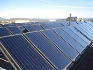 Colectores solares em Hospital