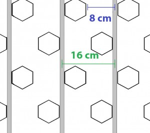 Colocação tubo espaçamento 16 pavimento radiante