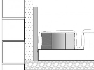 Instalação tira perimetral pavimento radiante