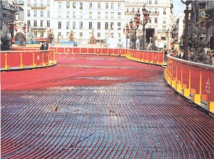 Pista gelo pavimento radiante