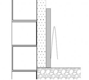 Tira perimetral pavimento radiante